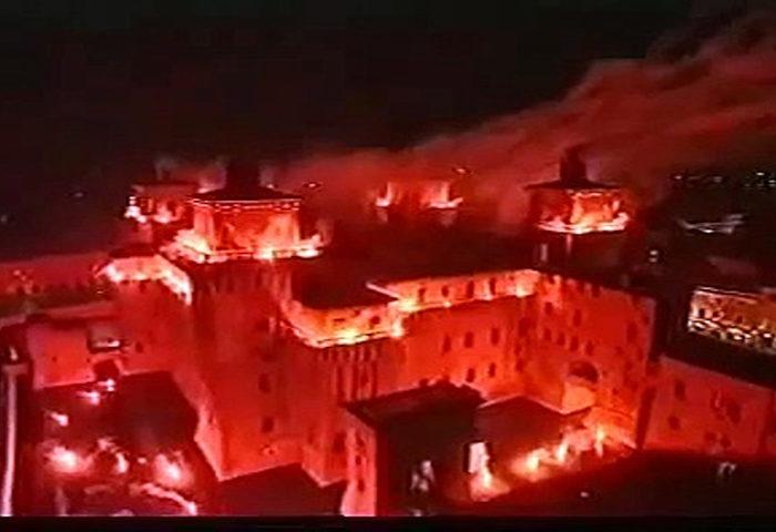 Incendio del Castello a Ferrara